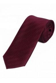 Lange Krawatte weinrot Struktur-Dekor