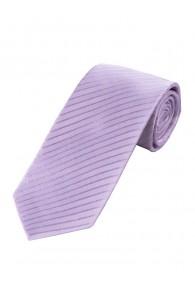 XXL Krawatte unifarben Linien-Struktur blasslila