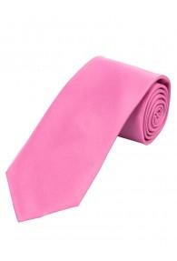 Überlange Satin-Krawatte Seide einfarbig rosa