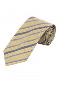 Überlange Krawatte florales Muster Streifen...