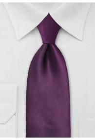 Elegante einfarbige Krawatte violett