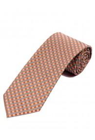 Überlange Krawatte stilsichere Waffel-Struktur...