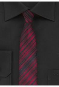 Schmale Krawatte rot