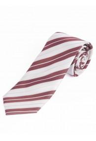 Sevenfold-Krawatte Streifendessin weiß
