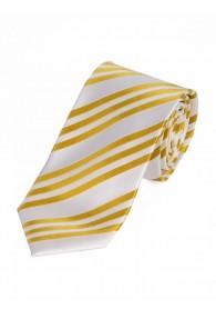 Sevenfold-Krawatte Streifendessin perlweiß