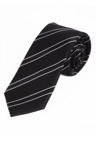 Sevenfold-Krawatte Streifenmuster nachtschwarz