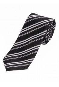 Sevenfold-Herrenkrawatte Streifendesign schwarz