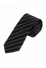 Sevenfold-Krawatte Streifenmuster asphaltschwarz