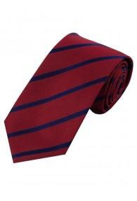 Sevenfold-Krawatte Streifendesign rot navy