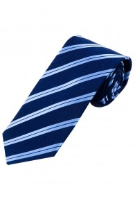 Sevenfold-Krawatte Streifendesign marineblau