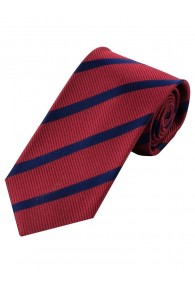 Sevenfold-Krawatte Streifenmuster rot dunkelblau