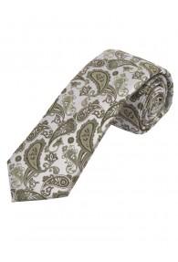 Sevenfold-Krawatte Paisley-Motiv hellgrau