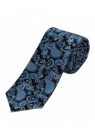 Sevenfold-Krawatte Paisley-Motiv nachtblau