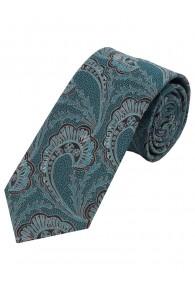 Sevenfold-Krawatte Paisley-Motiv dunkeltürkis