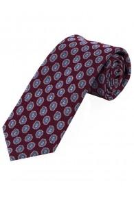 Sevenfold-Krawatte Paisley-Muster bordeaux