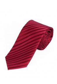 Sevenfold-Krawatte  unifarben rot Streifenstruktur