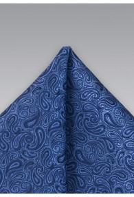 Einstecktuch Paisleys blau