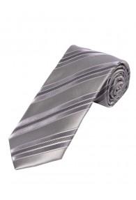 Sevenfold-Krawatte  einfarbig silber