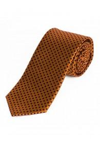 Krawatte Sevenfold Gitter-Dekor orange