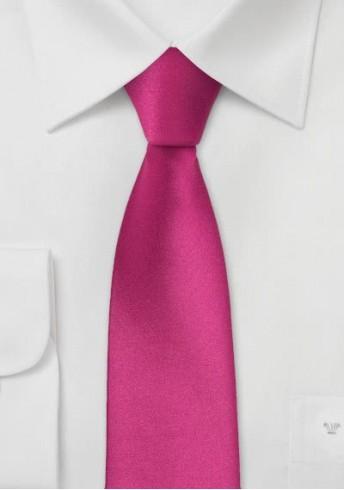 Schmale Krawatte magenta-rot