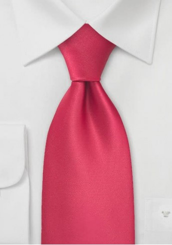 Krawatte magmarot unifarben