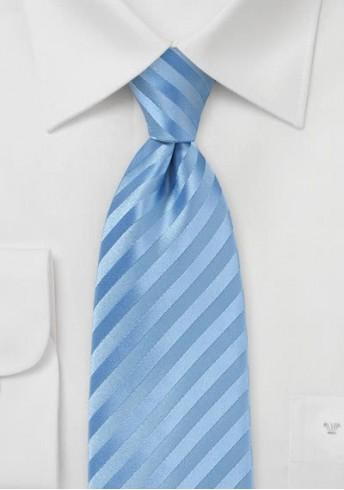 Businesskrawatte Streifendessin unifarben hellblau