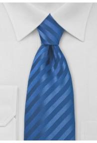 Businesskrawatte Streifendessin einfarbig blau