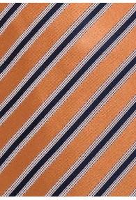 Krawatte Streifendessin orange