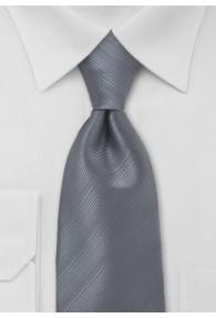 Krawatte dunkelsilbergrau unifarben Streifenmuster