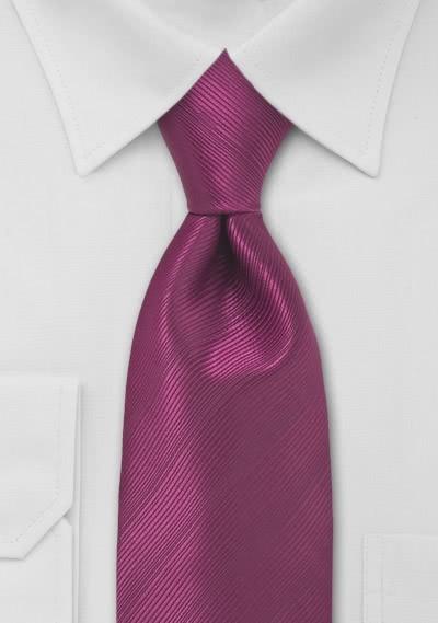 Krawatte magenta unifarben Streifendessin