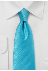 Krawatte aqua einfarbig Streifendessin