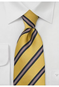 Klassische Regiments-Krawatte in Curry