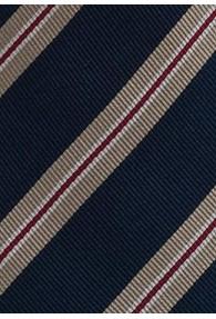 Klassische Regiments-Krawatte in Marineblau