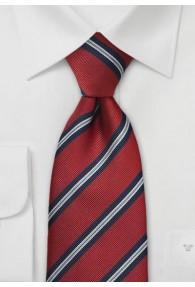 Klassische Regiments-Krawatte in Mittelrot