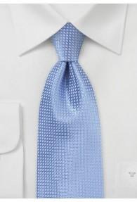Extra lange Krawatte hellblau strukturiert
