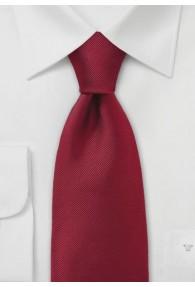 Einfarbige Krawatte mit Rippsstruktur in