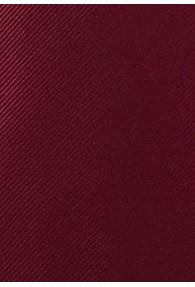Einfarbige Krawatte mit Rippsstruktur in Burgunderrot
