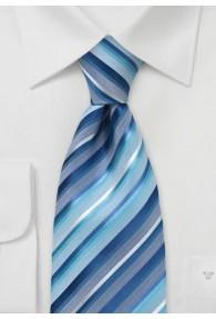 Krawatte blau und aqua mit modischem