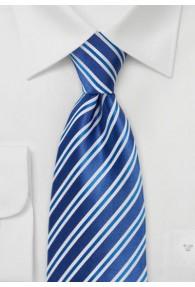 Businesskrawatte Streifen Blau