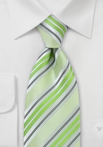 Krawatte Streifen blassgrün