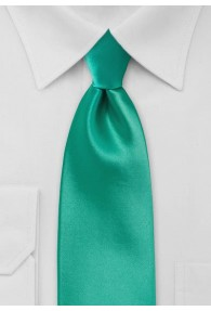 XXL-Krawatte unifarben türkisgrün