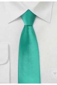 schmale Krawatte unifarben türkisgrün
