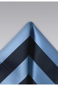 Einstecktuch breite Streifen Blau