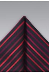 Einstecktuch Mikrofaser Schwarz Rot