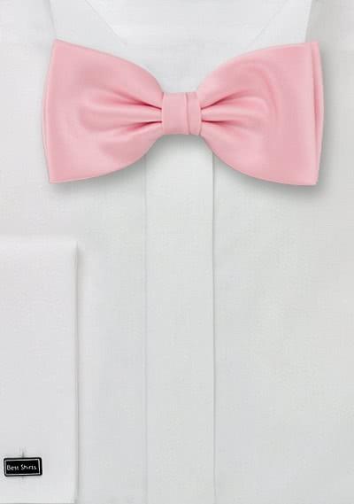 Fliege rosé seidig glänzend