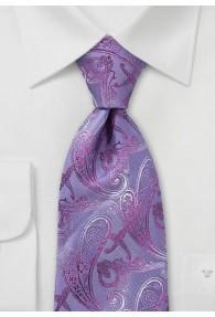 Krawatte Rankenmuster Lila