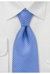 Herrenkrawatte einfarbig Struktur Hellblau