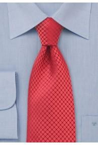Krawatte einfarbig Struktur Rot