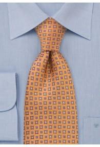 Krawatte orange geblümt
