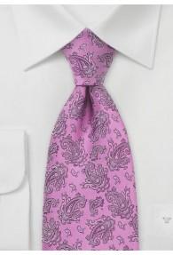 Krawatte Paisleys rose